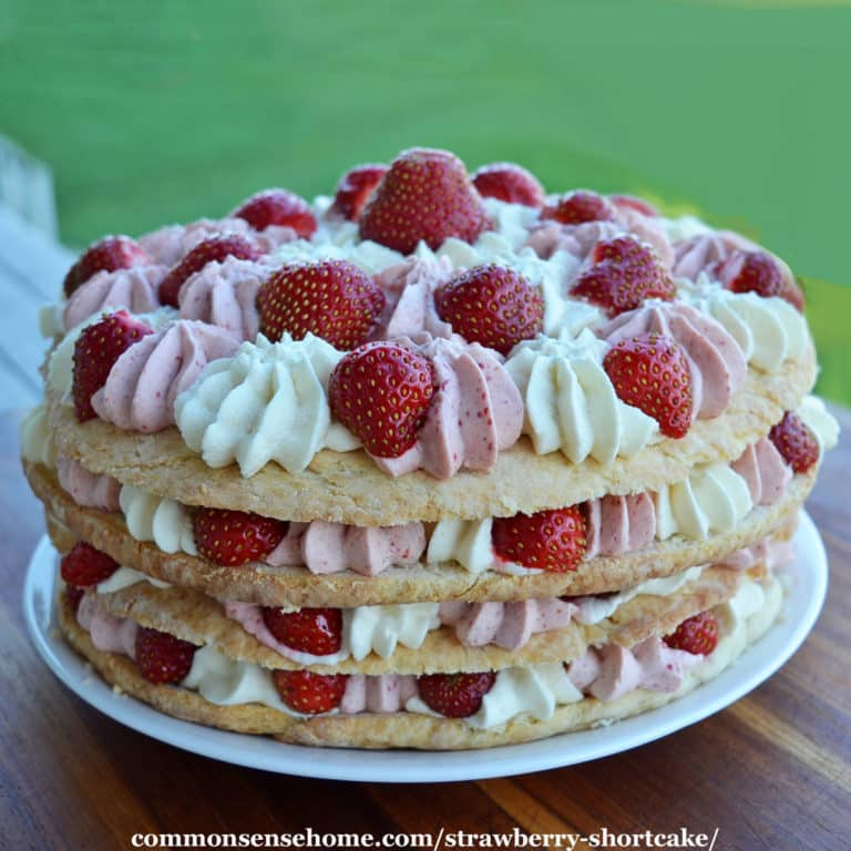 Strawberry Shortcake Recipe with Strawberry Whipped Cream