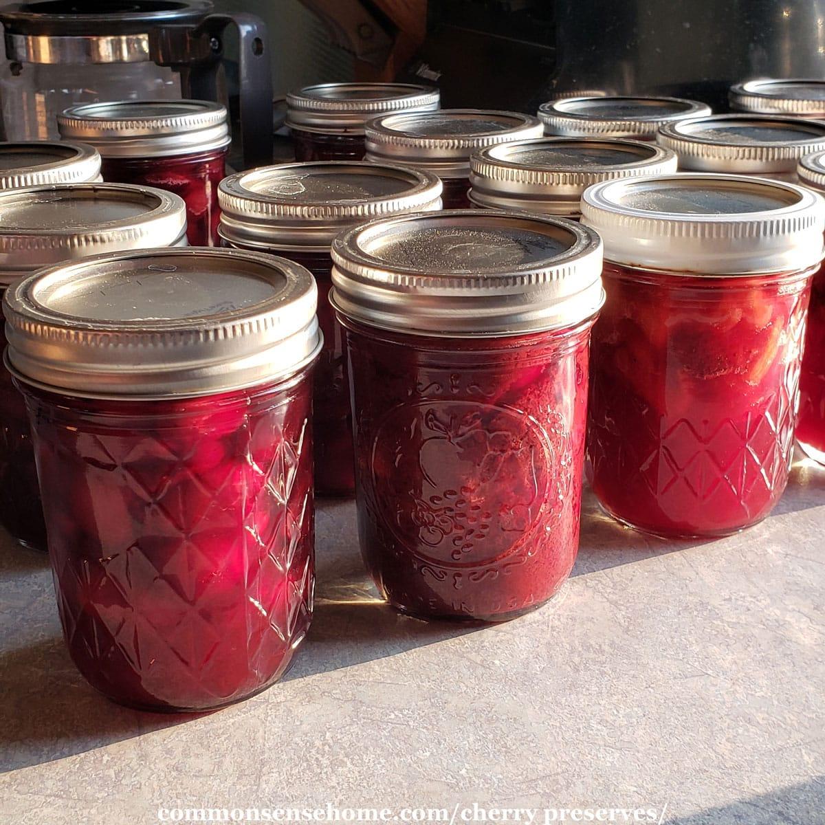 jars of homemade preserves