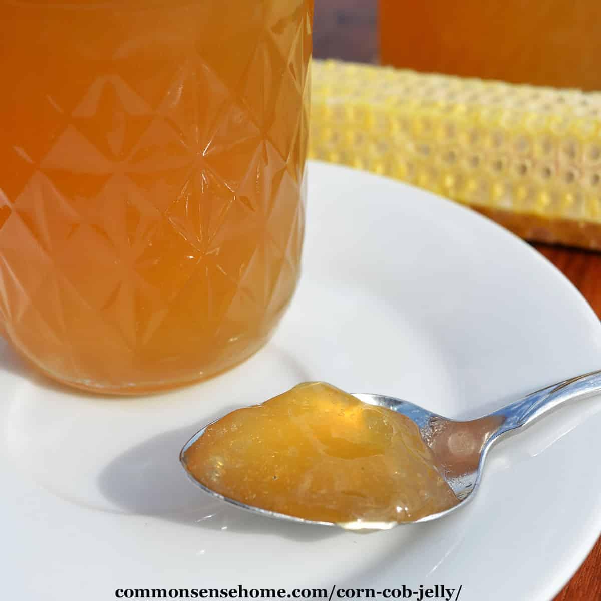 spoonful of corn cob jelly
