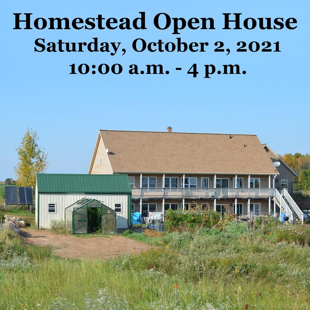 Homestead Open House 2021