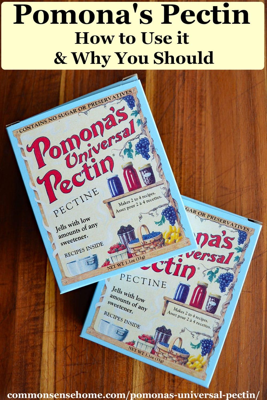 two boxes of pomona's pectin